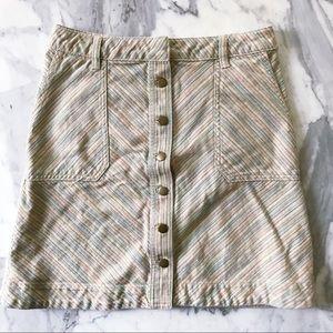 Pilcro & the Letterpress striped chino skirt